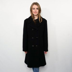 KATE SPADE Double-Breasted Wool-Blend Peacoat